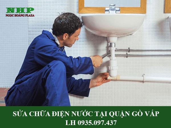 Sửa chữa điện nước tại quận gò vấp