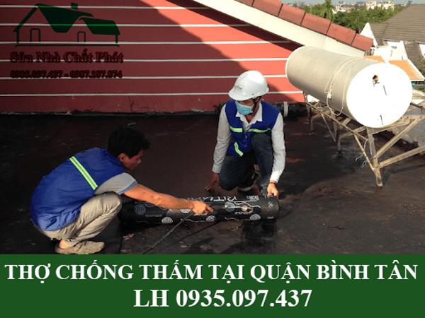 Thợ chống thấm tại quận Bình Tân