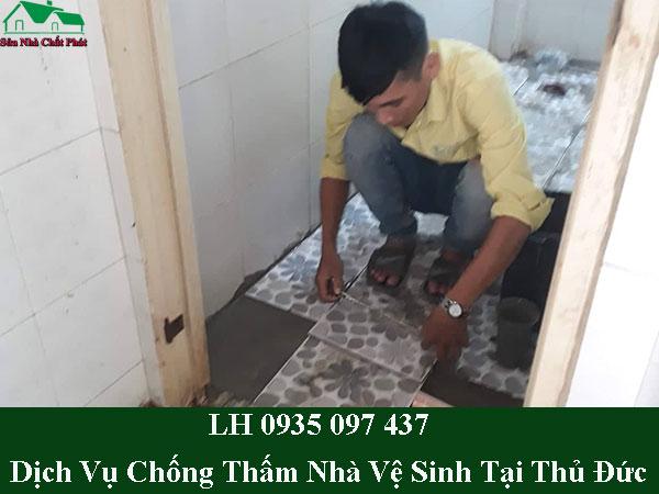Dịch vụ chống thấm nhà vệ sinh tại quận thủ đức