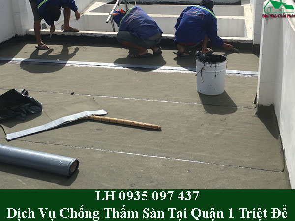 Dịch vụ chống thấm trần nhà bê tông tại quận 1 giá rẻ