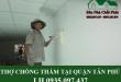 Thợ chống thấm tại quận Tân Phú