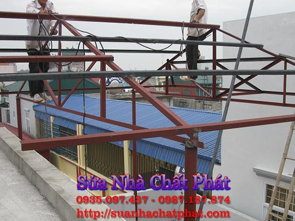 Làm nhà thép mái tôn tại biên hòa