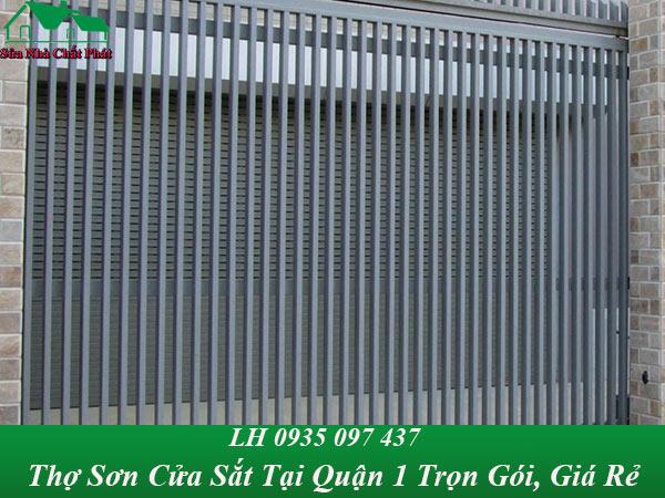 Dịch vụ sơn cửa sắt tại quận 1 trọn gói, giá rẻ