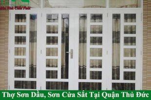 Thợ sơn cửa cổng sắt tại quận thủ đức giá rẻ