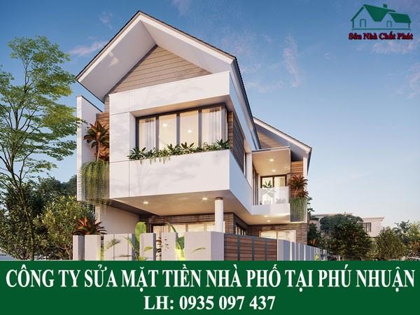 Công ty sửa mặt tiền nhà phố tại Phú Nhuận.