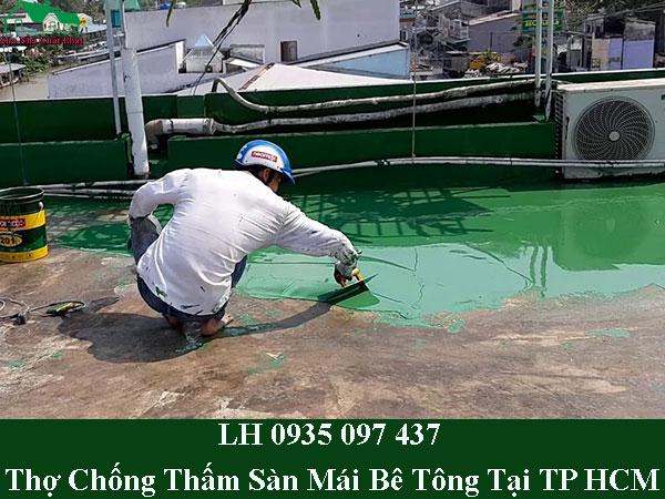 Thợ chống thấm sàn mái bê tông tại TP HCM giá rẻ