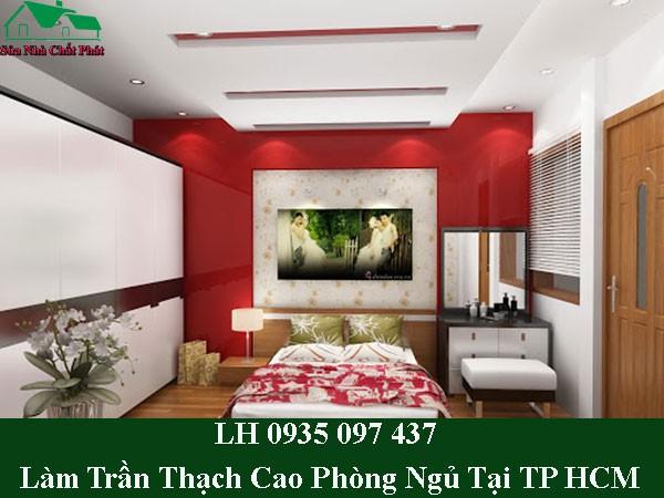 Dịch vụ làm trần thạch cao phòng ngủ tại TP HCM