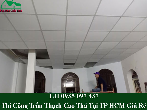 Dịch vụ làm trần thạch cao thả tại TPHCM