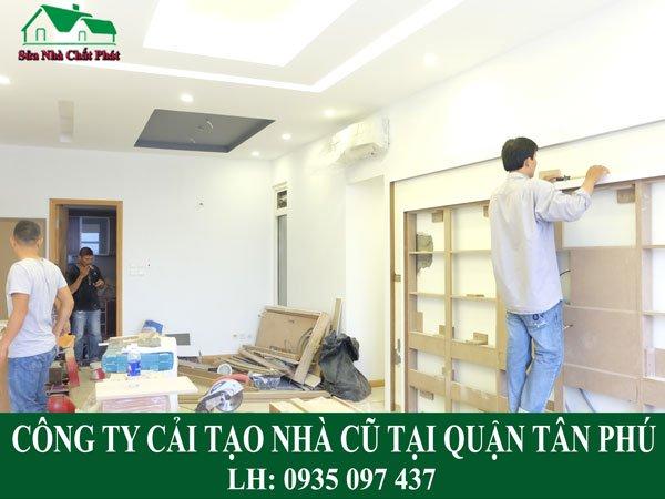 Công ty cải tạo nhà cũ tại quận Tân Phú.