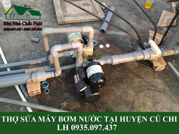 Thợ sửa máy bơm nước chuyên nghiệp tại huyện Củ Chi