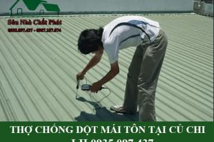 Thợ chống dột mái tôn tại củ chi
