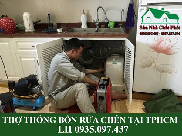Thợ thông bồn rửa chén bát tại TPHCM